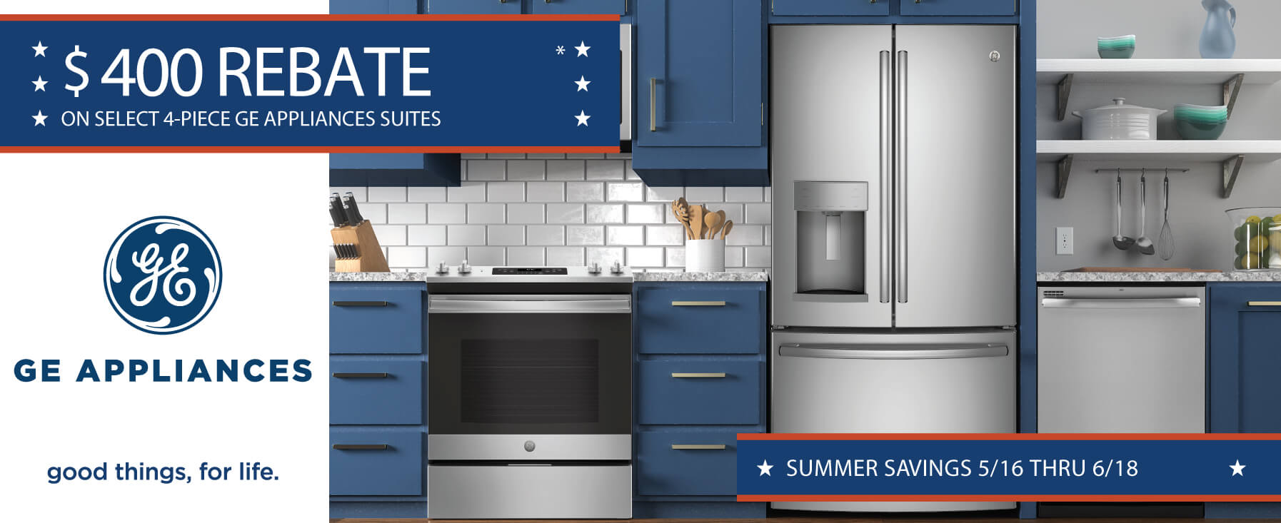GE Summer Savings - $400 Rebate